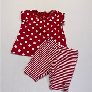 Carter's Girls Outfit 6 Months Red White